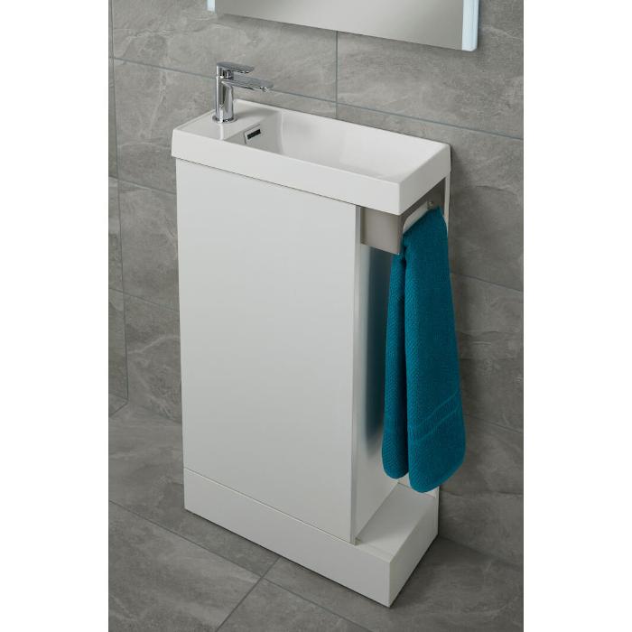 Duo 500mm Slimline Cloakroom Vanity, Corner Cloakroom Vanity Unit Uk