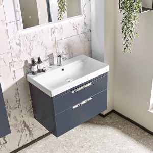 ESP 500mm Wall Hung Vanity Drawer Unit & Basin In Four Colours