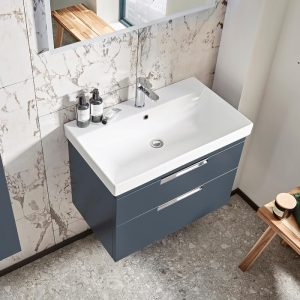 ESP 700mm Wall Hung Vanity Drawer Unit & Basin In Four Colours