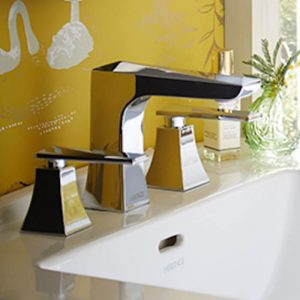 Heritage Hemsby 3 Tap Hole Basin Mixer Taps In Chrome