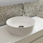 Honey Round Vessel Counter Top Bowl 420mm