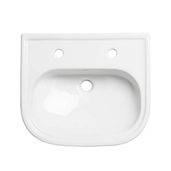 Islington 490mm Semi Recessed Basin One Or Two Tap hole