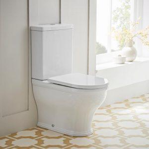 Islington Fully Back To Wall Rimless Close Coupled Toilet & Soft Close Seat