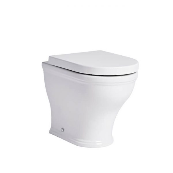 Islington Rimless Short Projection Back To Wall Toilet & Soft Closing Seat