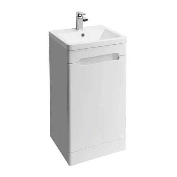 Kirk 400mm Floor Standing Vanity Unit & Basin In Grey or White