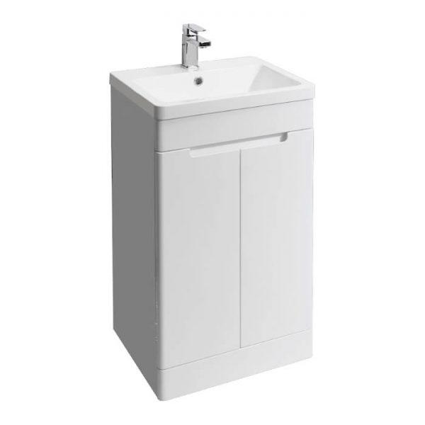 Kirk 500mm Floor Standing Vanity Unit & Basin In Grey or White