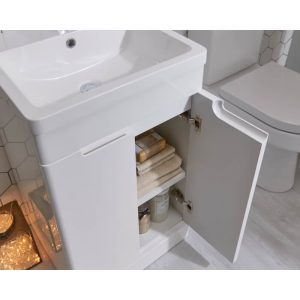 Kirk 500mm Floor Standing Vanity Unit & Basin In Grey or White