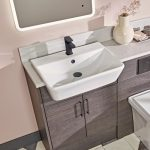 New Era 560mm Square Semi Recessed Basin 1 Tap hole lifestyle1
