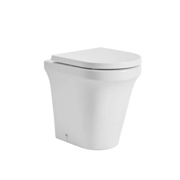 New Era Rimless Comfort Height Back To Wall Toilet & Soft Closing Seat