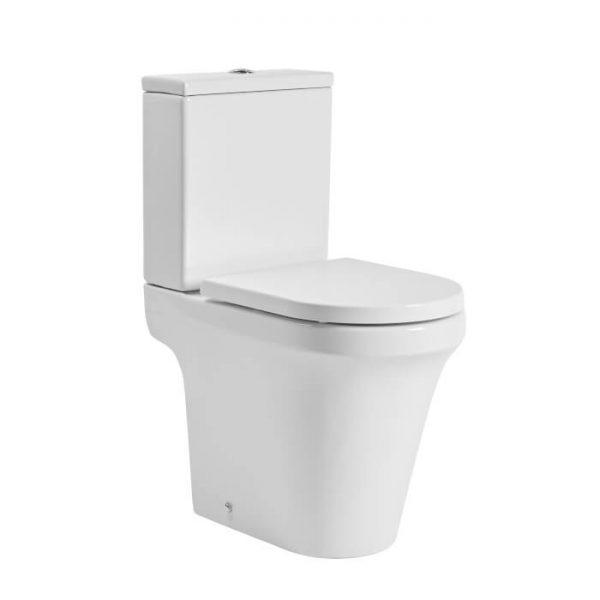 New Era Rimless Comfort Height Close Coupled Toilet & Soft Close Seat