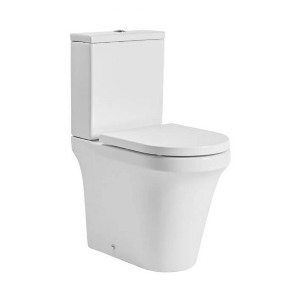 New Era Rimless Comfort Height Fully Back To Wall Toilet & Soft Close Seat