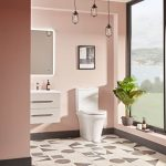 New Era Rimless Comfort Height Fully Back To Wall Toilet & Soft Close Seat lifestyle