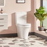 New Era Rimless Comfort Height Fully Back To Wall Toilet & Soft Close Seat lifestyle1