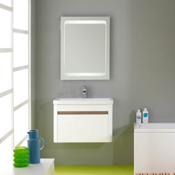 Roper Rhodes Refresh 600mm Wall Hung Draw Unit & Basin White