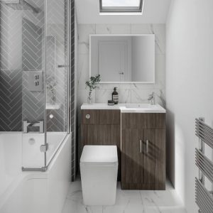 Serena Mini L-Shaped Combination Vanity & WC Unit 920 In Three Colours