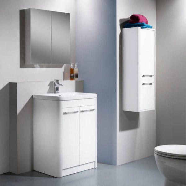 Sol 700mm Floor Standing Vanity Unit & Basin