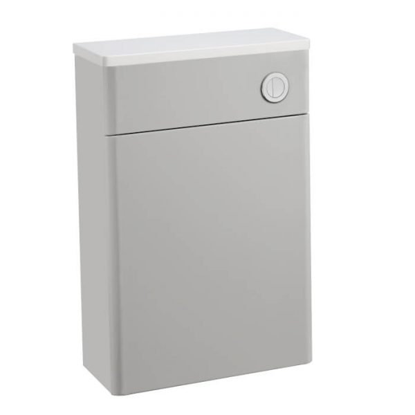 Sol Curved Back To Wall Toilet Unit Light Grey