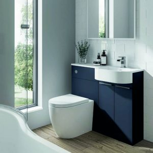 Toone P-Shape Combination Vanity & WC Unit 1000mm In Three Colours