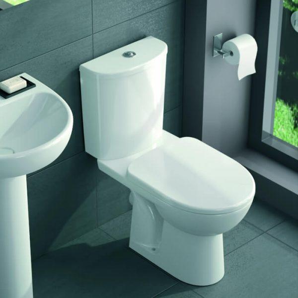 Twyford E100 Round Close Coupled Toilet & Soft Close Seat
