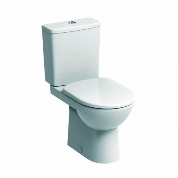 Twyford E100 Square Close Coupled Premium Toilet & Soft Close Seat CUtout