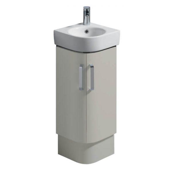 Twyfords E200 Corner Vanity Unit & Basin 320mm In Grey or White