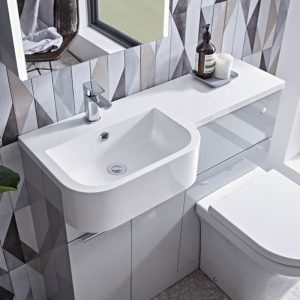 Eros Combination Vanity & WC Unit 1000mm Wide In Six Colours