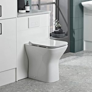 Eros Short Projection Comfort Height Back To Wall Toilet & Soft Close Seat