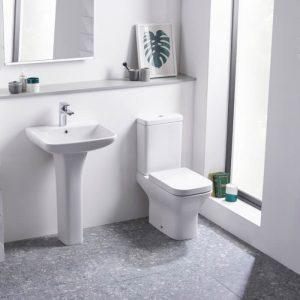 Eros Square Close Coupled Toilet & Soft Close Seat