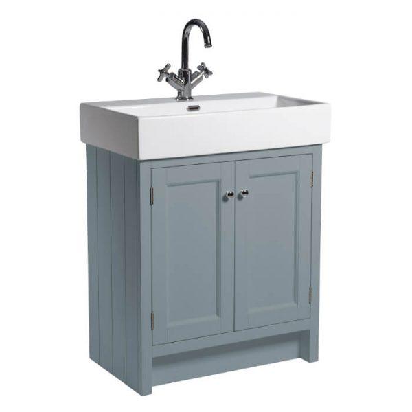 Hampton 700mm Floor Standing Vanity Unit & Basin In Six Colours