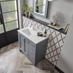 Hampton 800mm Vanity Unit & Basin With Carrara Top, In AGAVE LIFESTYLE