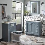 Hampton 800mm Vanity Unit & Basin With Carrara Top, In AGAVE LIFESTYLE 2