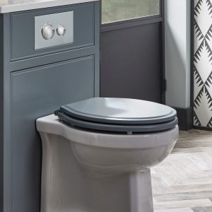 Hampton Soft Closing Toilet Seat With Chrome Hinges In Six Colours