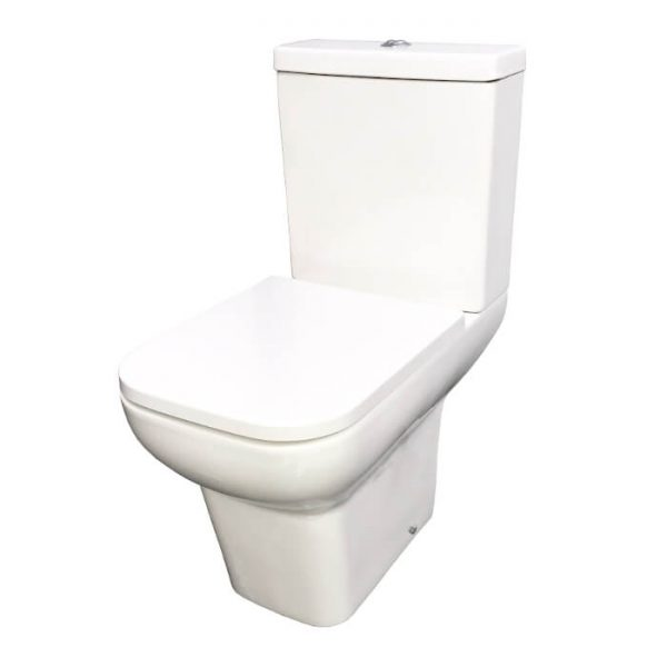 Isco Square Close Coupled Toilet & Soft Close Seat