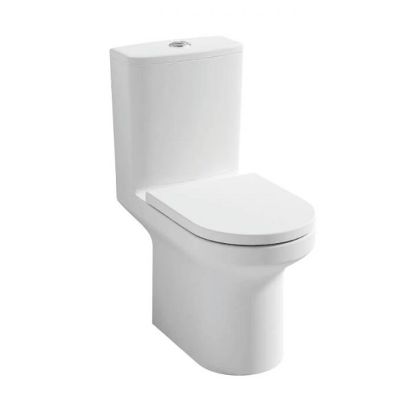 Lance Rimless Close Coupled Toilet & Soft Close Seat