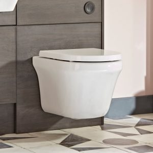 New Era Wall Hung Rimless Toilet & Soft Close Seat