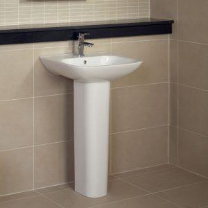 Orlando Basin & Full Pedestal 1 Tap Hole 450mm