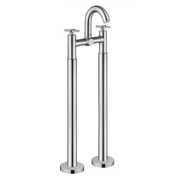 Armstrong Bath Filler & Modern Leg Set Freestanding Tap In Chrome