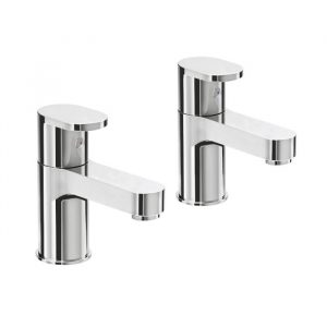 Blade Bath Pillar Taps In Chrome