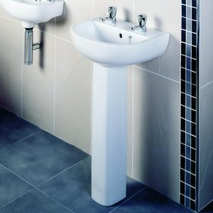 Compact 450mm Basin & Full Pedestal 1 Or 2 Tap Hole
