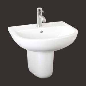 Compact 550mm Basin & Half Pedestal 1 Or 2 Tap Hole