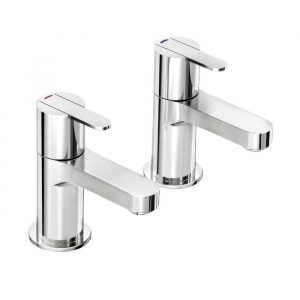 Escape Basin Pillar Taps In Chrome