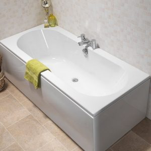 Exeter Double Ended 5mm Bath 1700 x 750mm In White