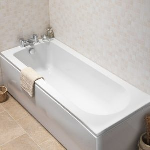 Exeter Single Ended 5mm Bath 1800 x 800mm In White