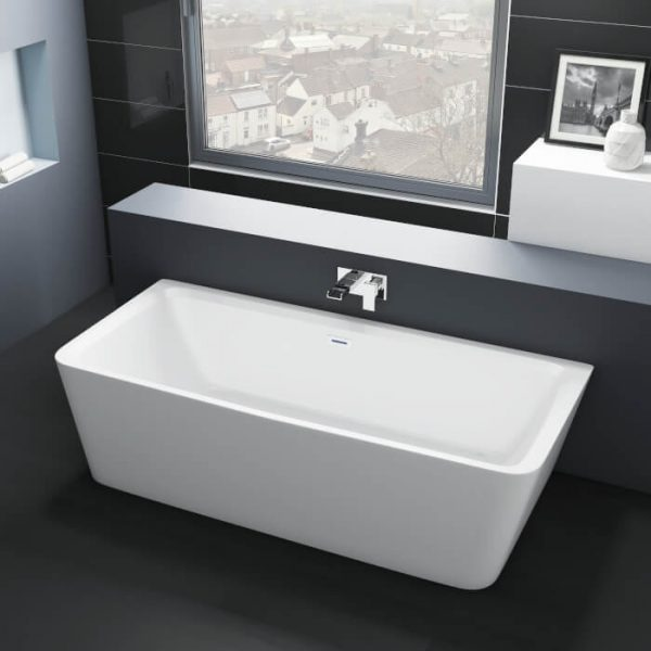Lance Back To Wall Freestanding Double Ended Bath 1800x860mm