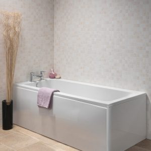Lance Single Ended Bath 5mm 1700 x 750mm In White