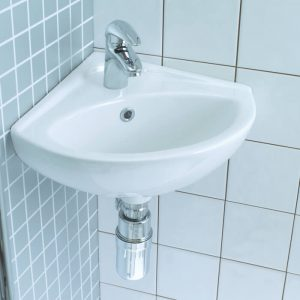 Planet Corner Wall Basin 1 or 2 Tap Hole 405mm