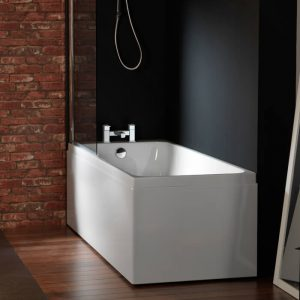 Profile Single Ended 5mm Bath 1700 x 750mm In White