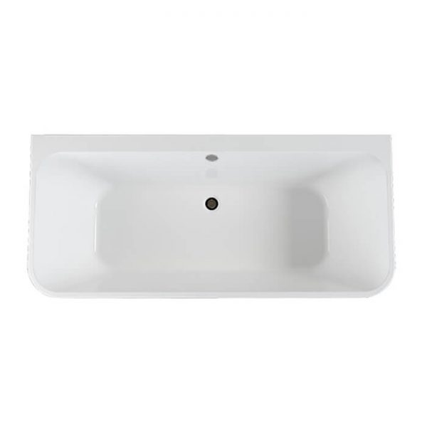 Pura Ravine Back To Wall Freestanding Puracast Bath 1500x750mm In White
