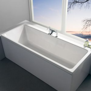 Quantum Duo Double Ended 5mm Bath 1700 x 800mm In White