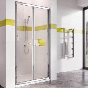 IN6 Bi-Fold Shower Door In Chrome 1000mm Wide